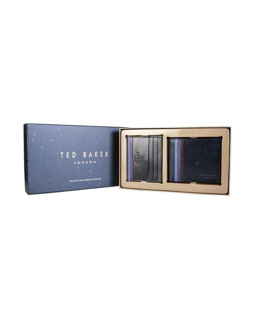 8a5b2b956e9 ... Ted Baker - Wallet And Cardholder Gift Set Dc8m GG11 Hooms Men's Purse  Wallet In Black ...