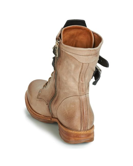 new style 6e3bc aa88c A.S.98 Saint 14 Women's Mid Boots In Beige in Natural - Lyst