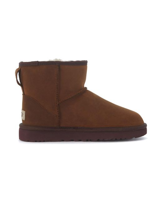 Ugg - Classic Ii Mini Ankle Boots In Dark Brown Suede Women's Mid Boots In Brown - Lyst