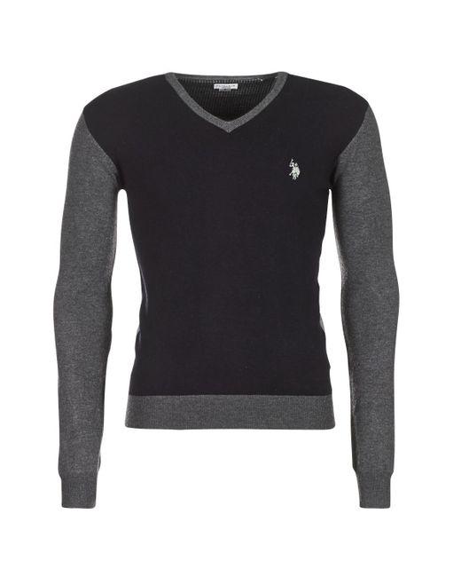 U.S. POLO ASSN. - Gray Lars Men's Sweater In Grey for Men - Lyst