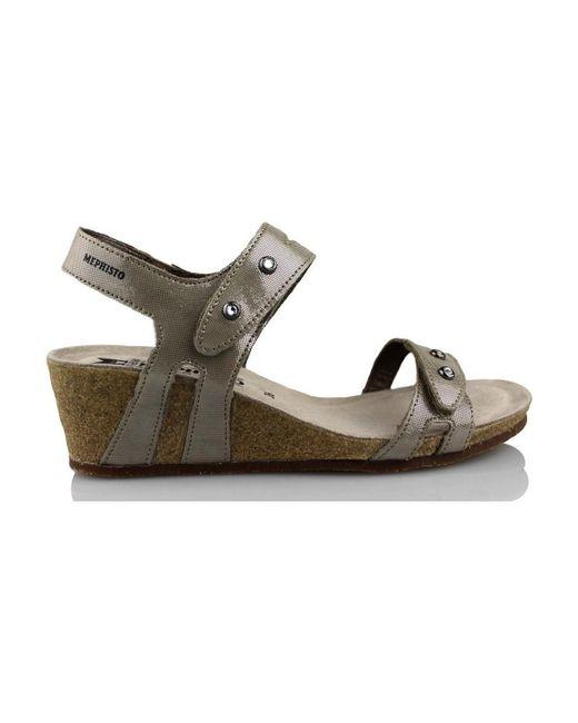 Mephisto | Metallic Minoa Women's Sandals In Gold | Lyst