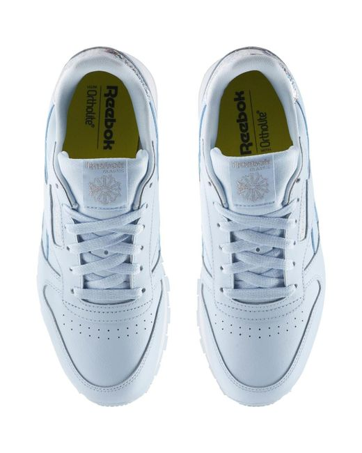 fb257e8241a ... Reebok - Classic Leather Pastel - Primaria Women s Shoes (trainers) In  Blue ...