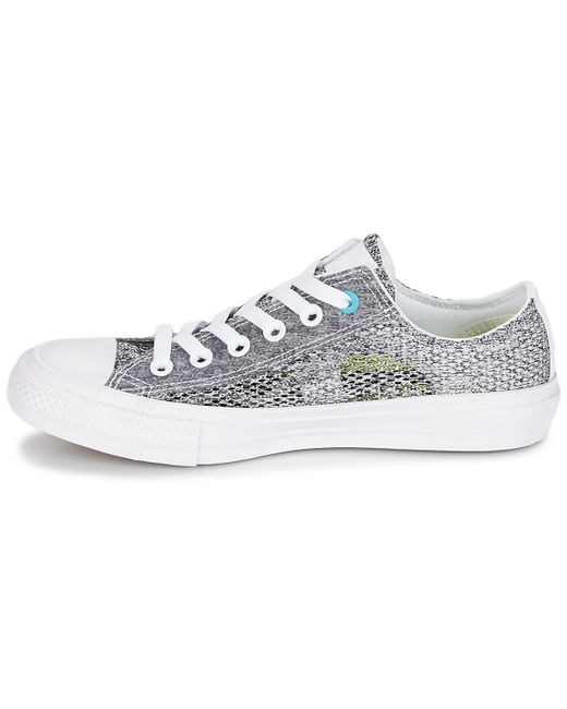 034dfffdcde710 ... Converse - Gray Chuck Taylor All Star Ii Open Knit Ox Men s Shoes  (trainers) ...