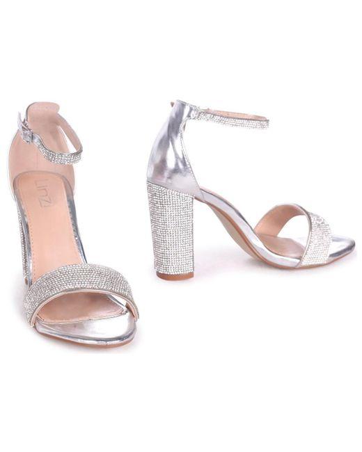 e3f3bb4906 ... Linzi - Metallic Kesha Women's Sandals In Silver - Lyst