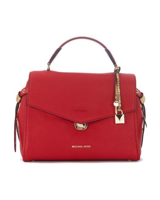 MICHAEL Michael Kors - Borsa A Mano Bristol In Pelle Rossa Men's Shoulder Bag In Red - Lyst