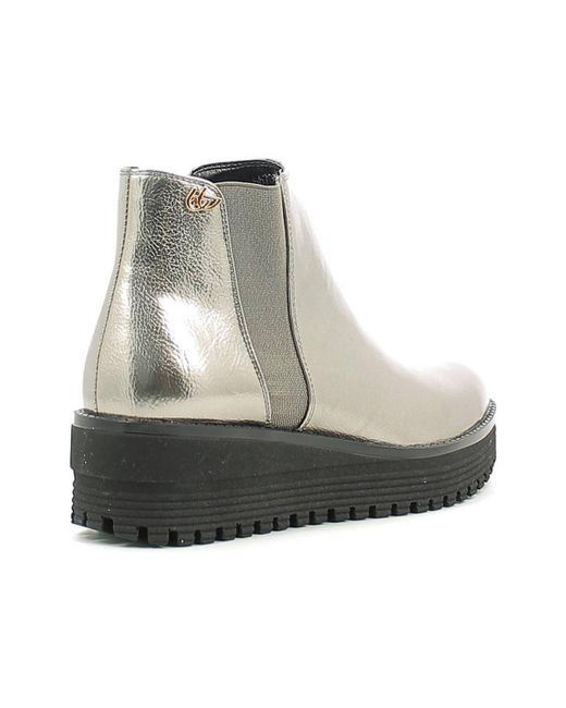 ... Byblos Blu | Gray 6670q1 Ankle Boots Women Fucile Women's Mid Boots In  Grey ...