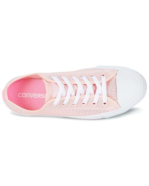 ea93eeaebcc1fd ... Converse - Chuck Taylor All Star Summer Breathe Ox Women s Shoes ( trainers) In Pink ...
