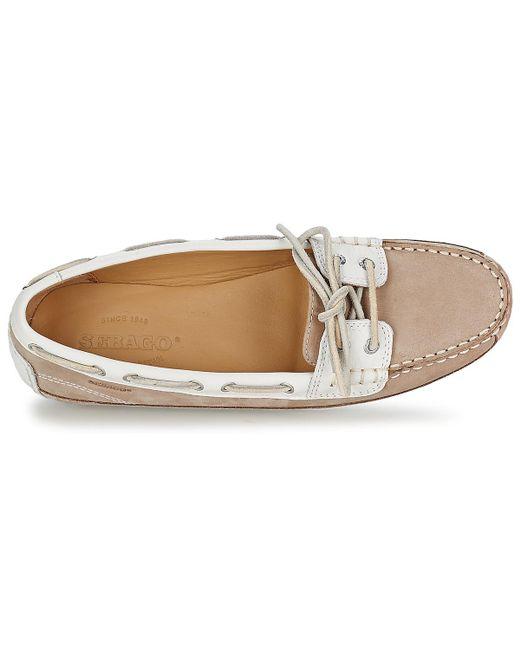 0be6ed09a2e94 ... Lyst Sebago - Natural Bala Women's Boat Shoes In Beige ...