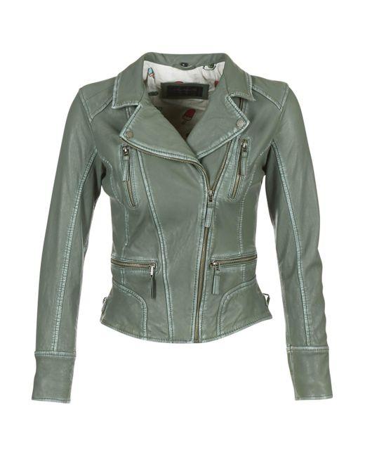 Oakwood Camera Women's Leather Jacket In Green