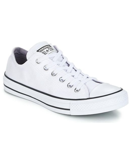 81b7fce970aa0f Converse - Chuck Taylor All Star Ox Women s Shoes (trainers) In White - Lyst  ...