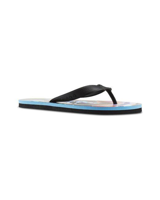 Reebok - Cash Flip Women s Flip Flops   Sandals (shoes) In Black - Lyst ... e35049399