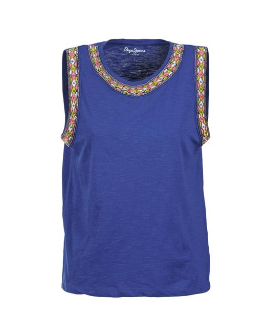 Pepe Jeans | Victory Women's Vest Top In Blue | Lyst
