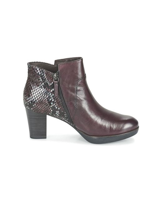 Tamaris | 25331 Womens High Heeled Boots Women's Low Ankle Boots In Brown | Lyst