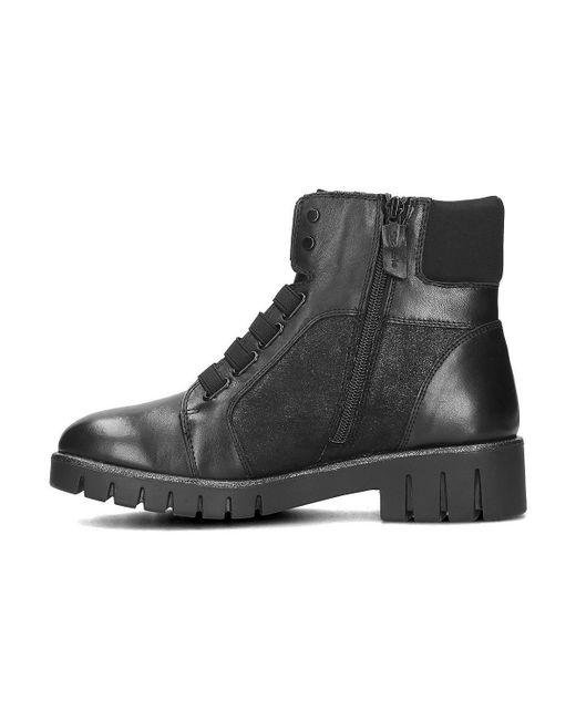 Lyst Black Women's Ankle Black Boots In Low in 12546521001 Tamaris 8q54zz