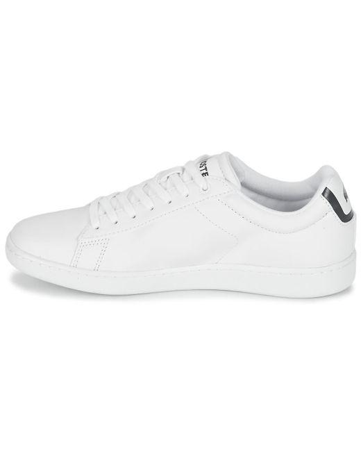 5caf4c87ab ... Lacoste - White CARNABY EVO BL 1 femmes Chaussures en blanc - Lyst ...