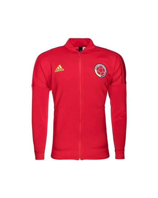 Adidas - 2018-2019 Colombia Zne Knitted Anthem Jacket Men's Sweatshirt In Red for Men - Lyst