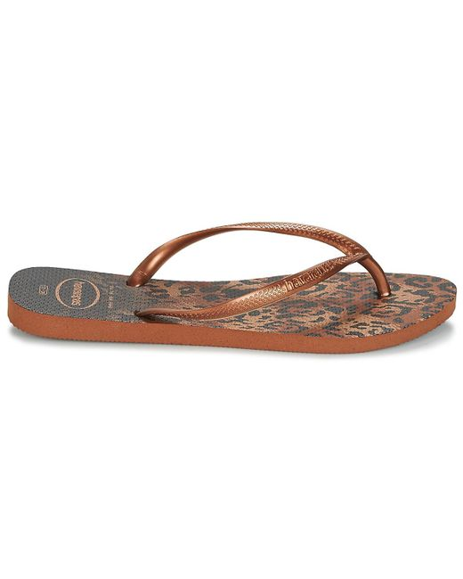 31b650ab747c ... Havaianas - Metallic Slim Animals Flip Flops   Sandals (shoes) - Lyst  ...