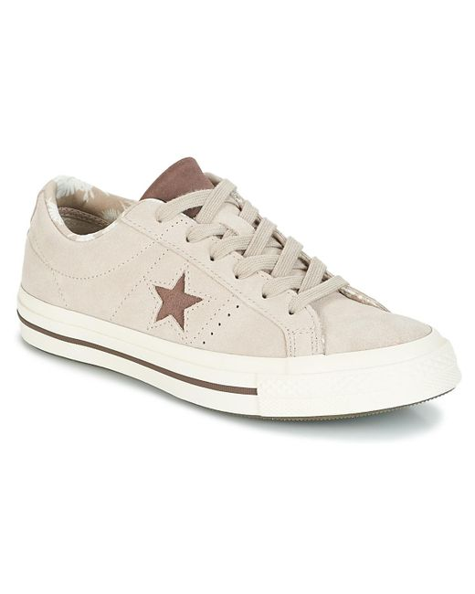 ac4c54d475a05e Converse - Natural One Star-ox Women s Shoes (trainers) In Beige - Lyst ...