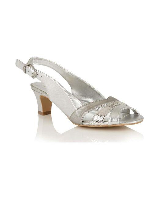 Lotus | Metallic Valeria Womens Dress Sandals Women's Sandals In Silver | Lyst