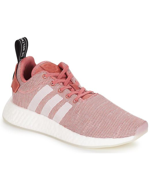 16454b3f8430 adidas Nmd R2 W Women s Shoes (trainers) In Pink in Pink - Lyst