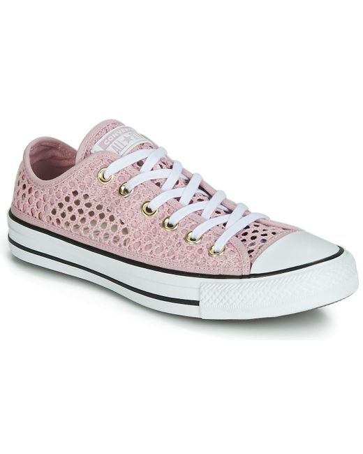 f08880c329be Converse - Chuck Taylor All Star Handmade Crochet Ox Women s Shoes  (trainers) In Pink ...