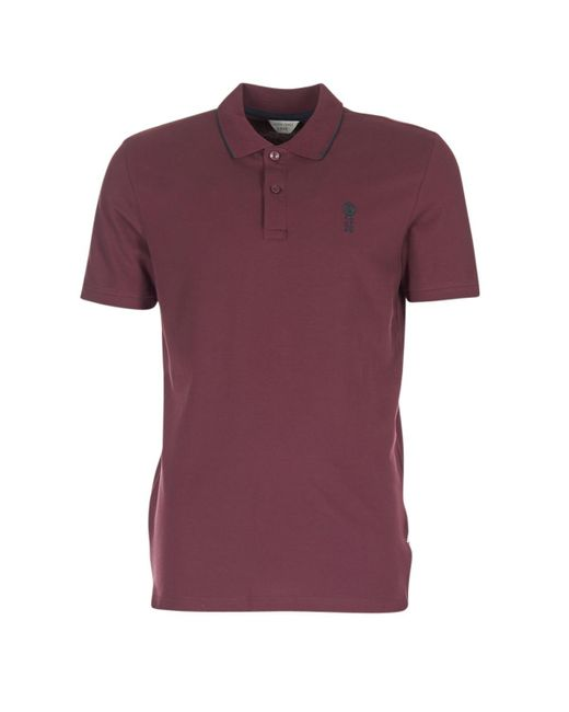Jack & Jones | Stone Core Men's Polo Shirt In Red for Men | Lyst