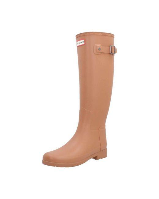Hunter   Original Refined Women's Wellington Boots In Brown   Lyst