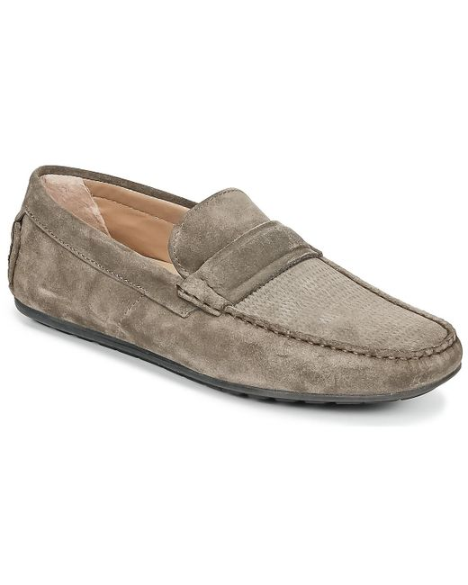 HUGO - Gray Travelling Dandy Moc Men's Loafers / Casual Shoes In Grey for Men - Lyst