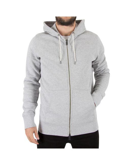 Levi's | Gray Levis Men's Original Zip Hoodie, Grey Men's Sweatshirt In Grey for Men | Lyst