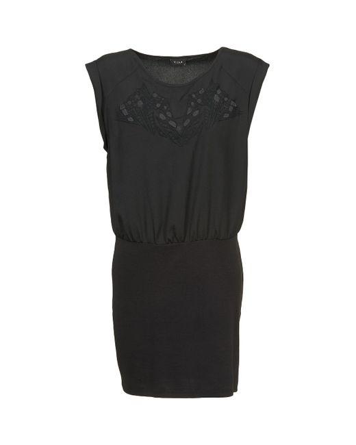 Vila - Vihamin Women's Dress In Black - Lyst
