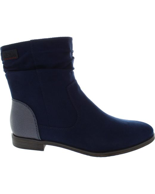 S.oliver - 5-25312-39 Women's Low Ankle Boots In Blue - Lyst