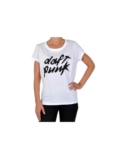 ELEVEN PARIS   T-shirt Daft Punk Logo W Ts White Women's T Shirt In White   Lyst