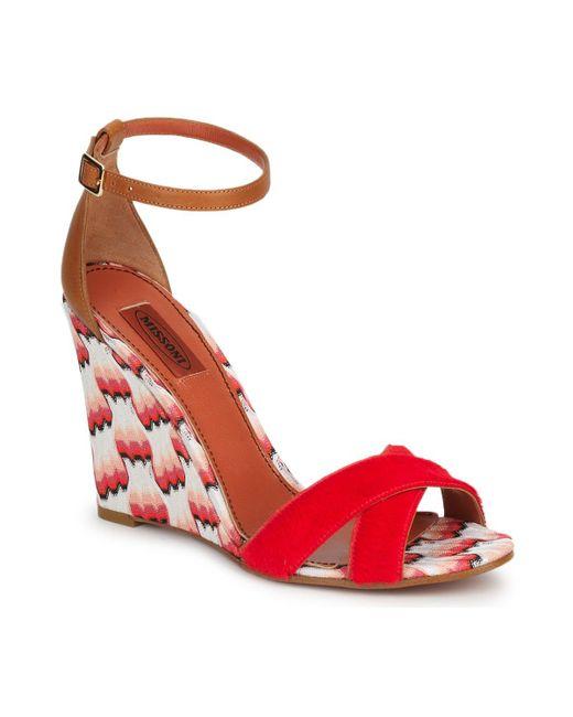 Missoni - Vm067 Women's Sandals In Pink - Lyst