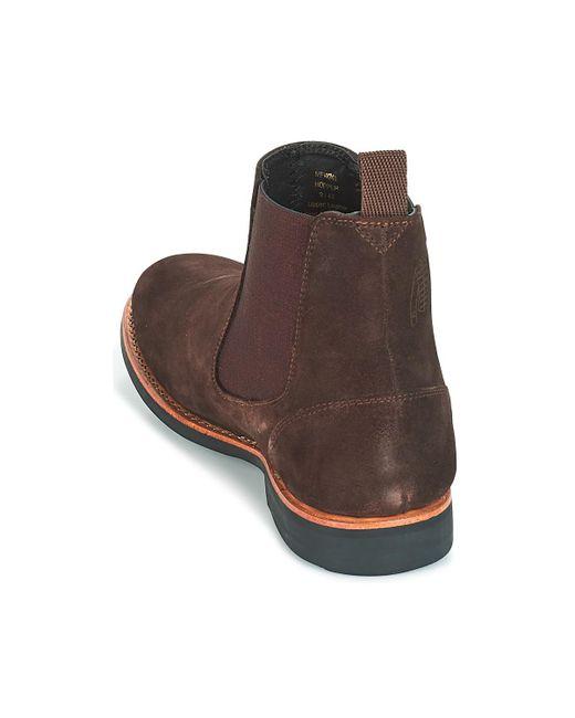 f5e733de3092 Frank Wright Hopper Men s Mid Boots In Brown in Brown for Men - Lyst