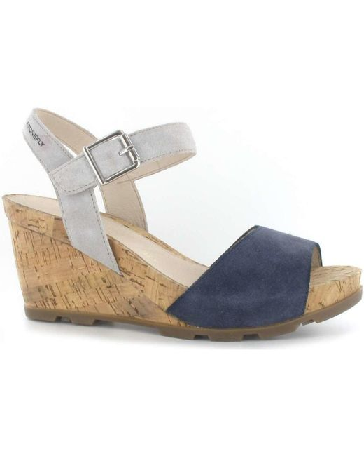 Stonefly - 108286 Wedge Sandals Women Blue Women's Sandals In Blue - Lyst