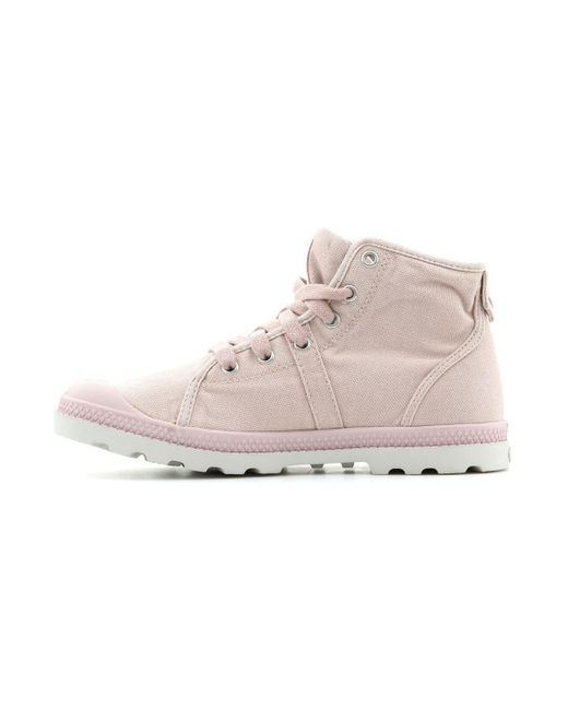 Palladium - Pallabrouse Mid Lf Women's Shoes (high-top Trainers) In Pink - Lyst