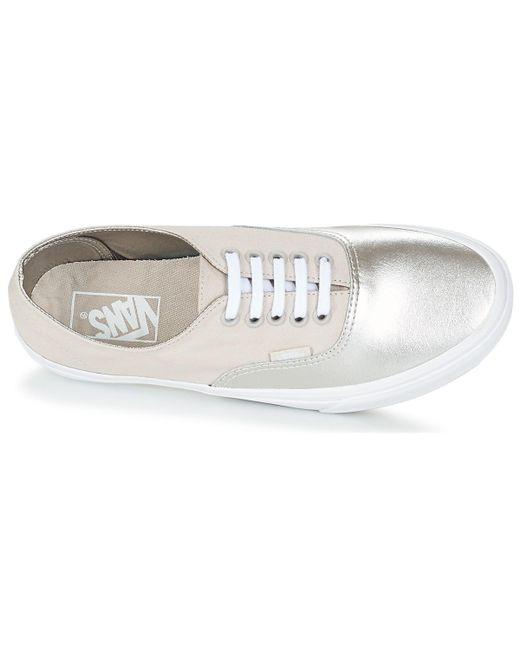 b9921946e1 ... Lyst Vans - Metallic Authentic Decon Women s Shoes (trainers) In Silver  ...