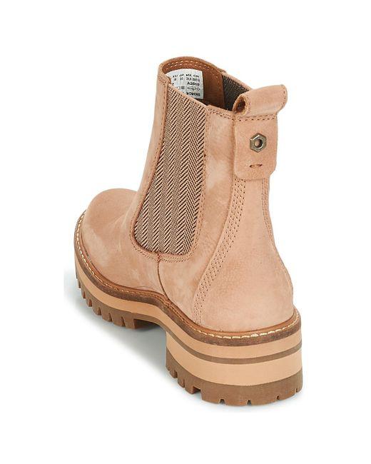 Courmayeur Valley Chelsea femmes Boots en rose Cuir