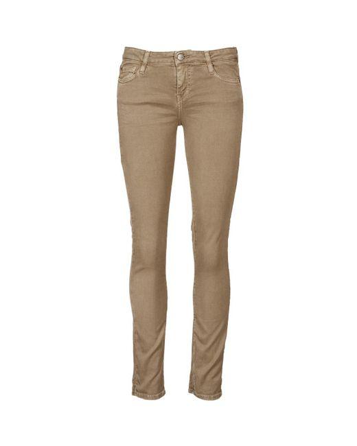 Acquaverde | Natural Scarlett Women's Cropped Trousers In Beige | Lyst