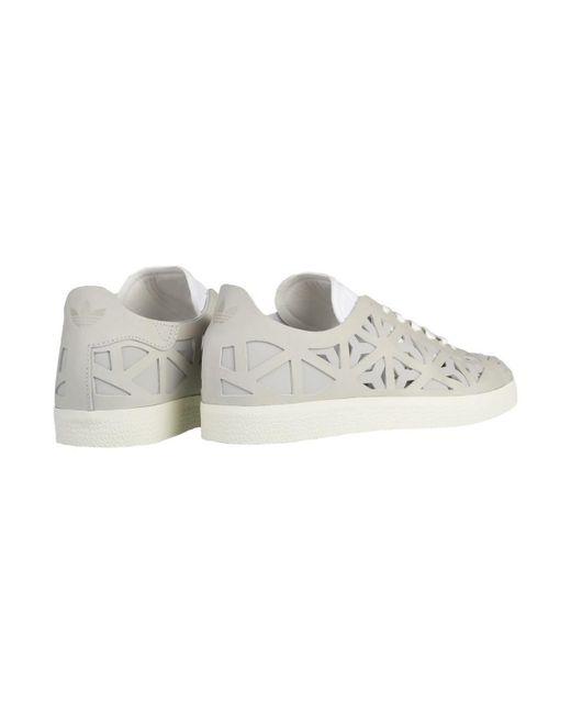 Adidas (Formatori) Gazzella Sagoma W Scarpe Da Donna (Formatori) Adidas In Bianco In Bianco. 67c62a