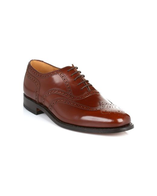 Loake | Mens Brown 202t Brogue Leather Shoes Men's Smart / Formal Shoes In Brown for Men | Lyst