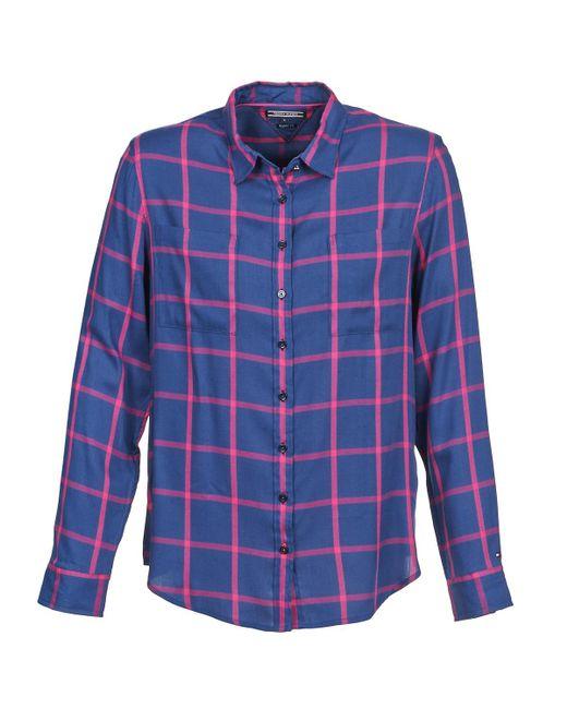 Tommy Hilfiger | Brenda Women's Shirt In Blue | Lyst