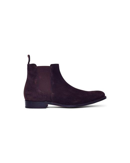 GRENSON | Declan Suede Chelsea Boot Brown Men's Mid Boots In Brown for Men  ...