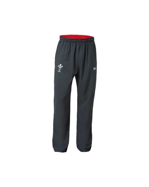 Under Armour - Gray 2018-2019 Wales Rugby Wru Travel Pants (anthracite) Men's Sportswear In Grey for Men - Lyst
