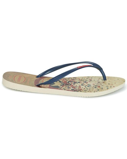 2aa418340 ... Havaianas - Natural Slim Captain America Flip Flops   Sandals (shoes) -  Lyst ...