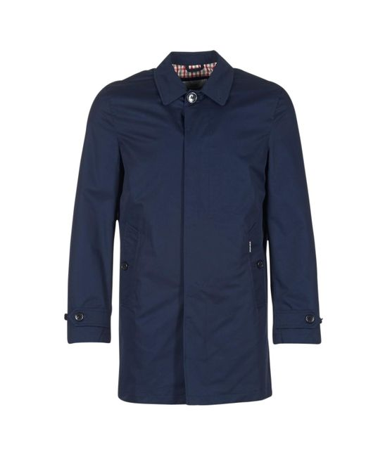 Ben Sherman | New Cotton Mac Men's Trench Coat In Blue for Men | Lyst