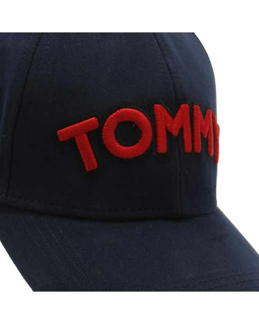 tommy hilfiger tommy patch cap in blue save 2 857142857142861 lyst
