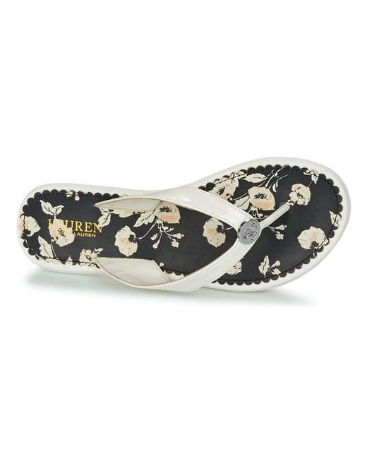 9e6d5c05f55d ... Lauren by Ralph Lauren - White Raia Flip Flops   Sandals (shoes) - Lyst  ...