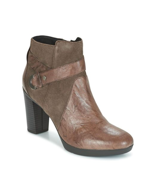 Geox - D Inspiration Plateau Women's Low Ankle Boots In Brown - Lyst