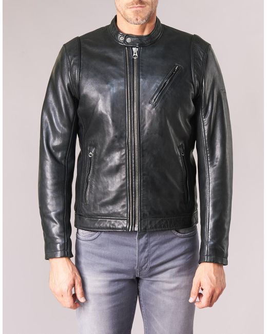 8d0799252f0 Pepe Jeans Culpeper Men s Leather Jacket In Black in Black for Men ...